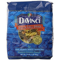 DaVinci Pasta Tri-color Spinach Fusilli Springs, 16 Ounce Bags (Pack of 12)