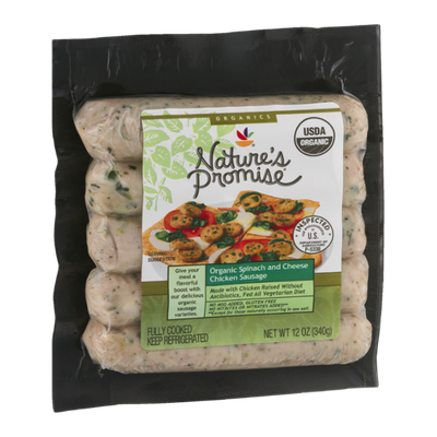 Nature's Promise Organic Spinach And Cheese Chicken Sausage