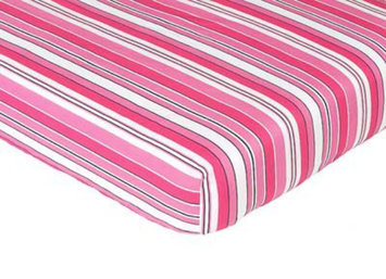 Jojo Designs, Llc. Sweet Jojo Designs Madison Striped Fitted Crib Sheet