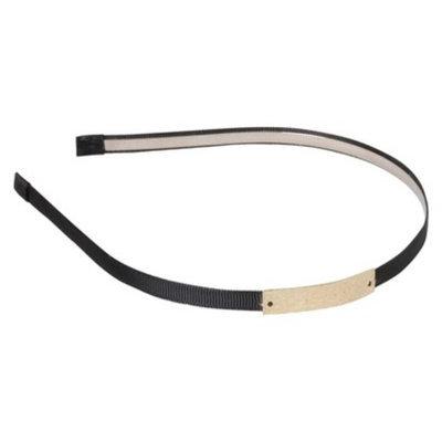 Remington Black Ribbon With Metal Band Charm Headband