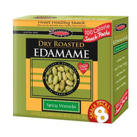 Seapoint Farms Edamame, 100 Calorie Packs Spicy Wasabi,12-8 Packs