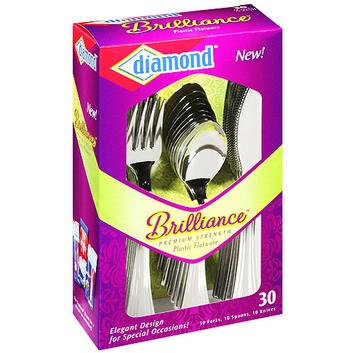 Diamond Brilliance Plastic Flatware