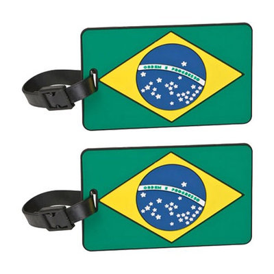 Travelon Brazil Flag Tag Assorted Colors-2-Pack Flag Tag
