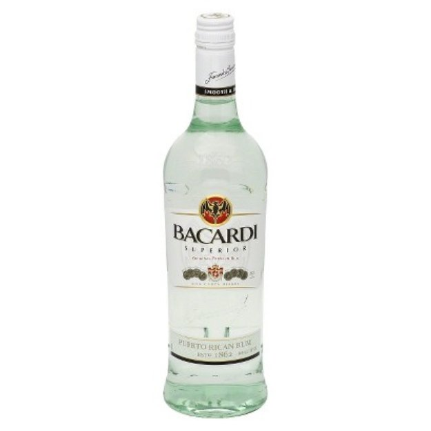 Bacardi Superior Light Puerto Rican Rum 750 ml