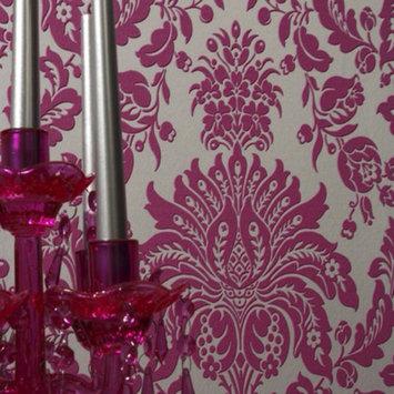 Graham & Brown Elizabeth Double-Roll Wallpaper - Pink/Silver