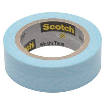 Scotch Washi Tape Blue Feather 10mX15mm
