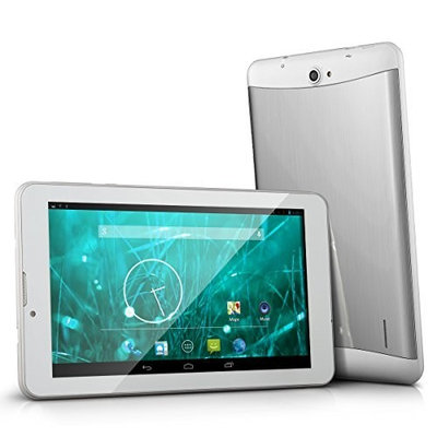 ProntoTec 7'' Dual Core Dual SIM Unlocked PhoneTab K3 Android 4.2.2 Tablet PC, Dual Camera, HD 1024x600, 4GB, Google Play Pre-loaded, 3G+WI-FI Supported - White