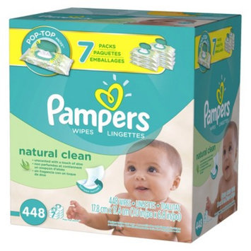 Pampers Wipes Pampers Natural Clean Baby Wipes 7x Pop-Top Pack - 448 Count
