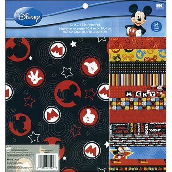 EK Success Mickey Decorative Paper Pad - 24 Per Psck
