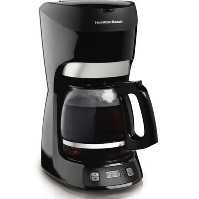 Hamilton Beach 12-Cup Programmable Coffeemaker, 49467, Black