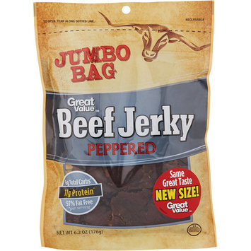 Great Value Beef Jerky Peppered, 6.2 oz