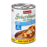Campbell's Select Harvest 100% Natural Light Savory Chicken with Vegetables Soup