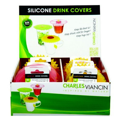 Charles Viancin Group Charles Viancin Drink Covers Lily, Sunflower and Hibiscus-Mfg# 1399 - Sold As 36 Units