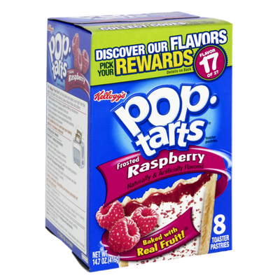 Kellogg's Pop-Tarts Frosted Raspberry Flavor