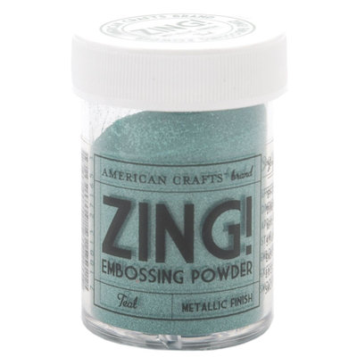American Crafts Zing! Metallic Embossing Powder 1 Oz-Teal