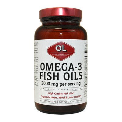 Olympian Labs Omega 3 Fish Oils Softgels Super Size