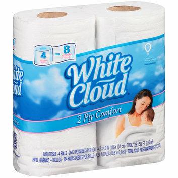White Cloud Soft & Thick Double Rolls Bath Tissue