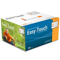 Easytouch U-100 Insulin Syringes For 100 Units Or Less 27 Guage 1 Cc