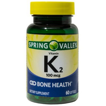 Wal-mart Stores, Inc. Spring Valley Vitamin K2 Dietary Supplement Softgels, 100mcg, 60 count