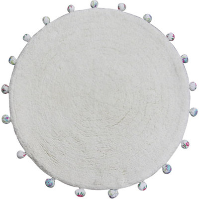 Allure Home Creation Vintage Lace Round Bath Rug - 24.5