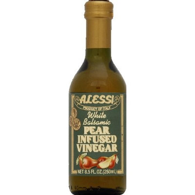 White balsamic pear infused Alessi Vinegar, Wht Blsm Pear, 8.50-Ounce (Pack of 6)