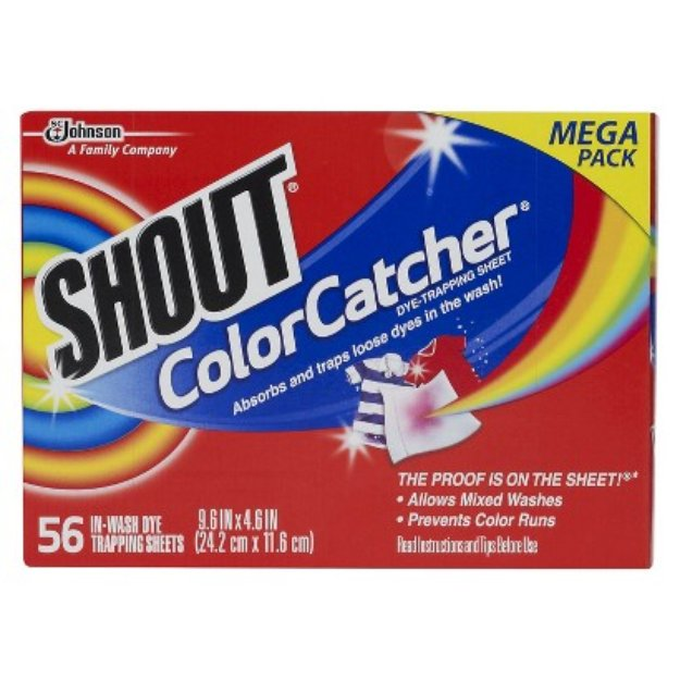 Shout Color Catcher Dye-Trapping, In-Wash Sheets 56 ct