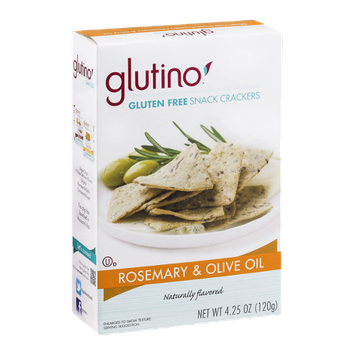 Glutino Gluten Free Snack Crackers Rosemary & Olive Oil Flavored