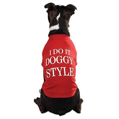 Zack & Zoey Doggy Style Pet Tee Shirt - Red