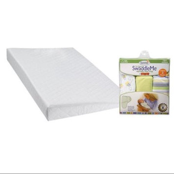 DexBaby Safe Sleep Inclined Crib Wedge with SwaddleMe Infant Wraps, Bees