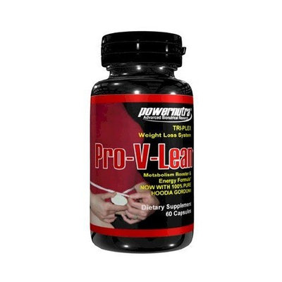 Powernutria Pro-V-Lean - TRI-PLEX Weight Loss System with CLA & Hoodia Gordonii Appetite Suppressant Weight Loss Diet Pills 60 Capsules