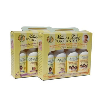 Natures Baby Organics NATURE'S BABY ORGANICS Travel Pack Lavender Chamomile Shamp Moist Diaper Crm PU Deod Gift 5 pc