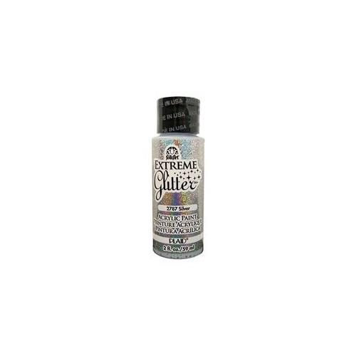 Folk Art 2787 Extreme Glitter 2-Ounce Acrylic Paint, Silver [Silver]