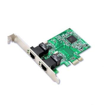 Syba PCIe 2x RJ45 1000-Base T Gigabit Ethernet Card Realtek Chipset IEEE 802.3x