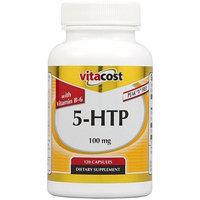 Vitacost Brand Vitacost 5-HTP with B-6 -- 100 mg - 120 Capsules