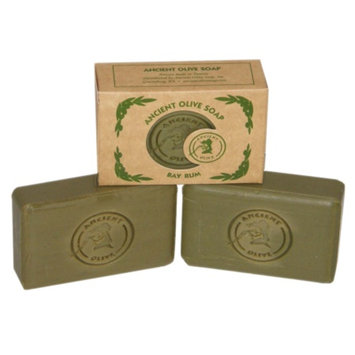 Ancient Olive Natural Olive Oil & Laurel Oil Molded Bar Soap, Value Pack Bay Rum