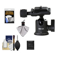 Vanguard SBH-20 Magnesium Alloy Ball Head with Quick Release Supports 8.8 lbs. and includes Cleaning Accessory Kit