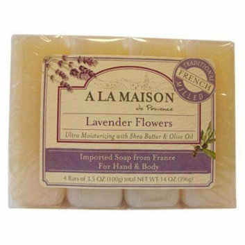 A La Maison Bar Soap Lavender Flower Value 4 Pack