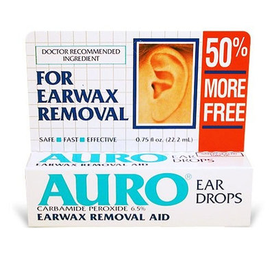 Auro EAR DROPS - Ear Wax Remove Vertical Pack, Boxes (Pack of 6)