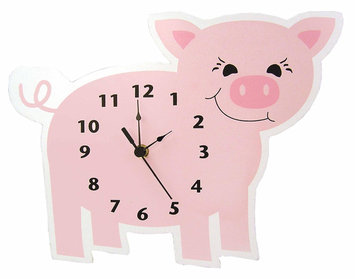 Test WALL CLOCK PIGLET