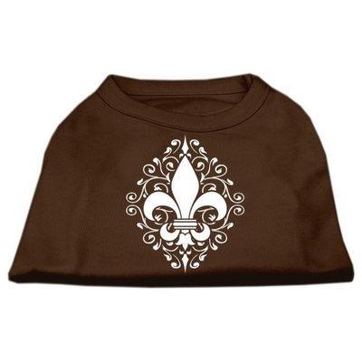 Ahi Henna Fleur de Lis Screen Print Shirt Brown Sm (10)