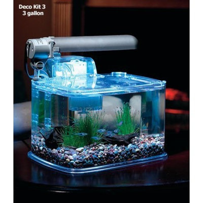 TOM Aquarium Deco Kit - 3gal Aquarium Kit - PC Lighting & Filter