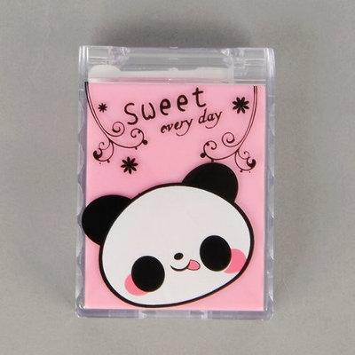 Ethahe Panda Plastic Contact Lens Case Vision Care Pink