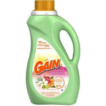 Gain With FreshLock Island Fresh Liquid Fabric Softener 60 Loads 51 Fl Oz