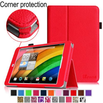 Fintie Premium Vegan Leather Slim Fit Stand Cover for Acer Iconia A1-830 7.9 -Inch Tablet, Red