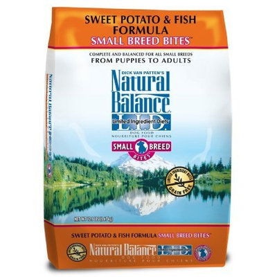 Natural Balance L.I.D. Limited Ingredient Diets Sweet Potato and Fish Small Breed Bites Formula for Dogs, 12-1/2-Pound Bag