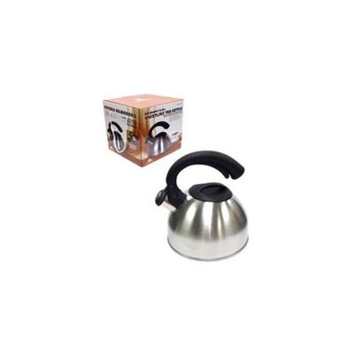 Tectron KT062 2. 5L Stainless Steel Whistling Kettle, Pack Of 6