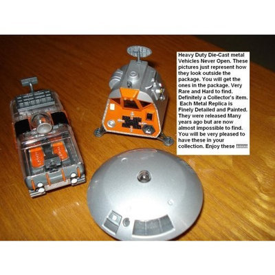 Hungry Jack Set of 3 Lost in Space Heavyweight Metal Vehicles Includes Chariot, Space Pod, and Jupiter 2