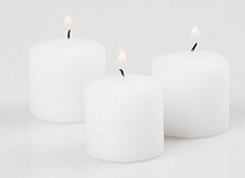 Strokes VOI510-72 Strokes White Unscented Votive Candles 10 Hour Burn