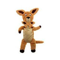 Charming Pet Products Pouch Mates Kangaroo Large Plush Dog Toy