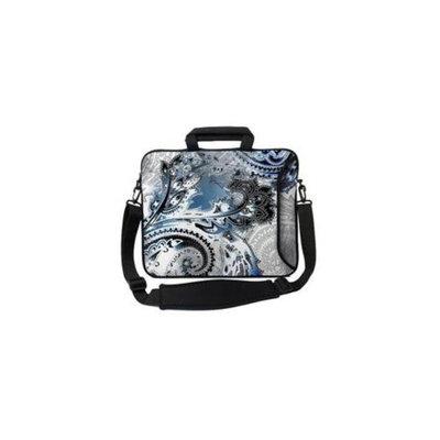 Designer Sleeves 17ES-PAISSB 17 inch Executive Sleeve Case - Steel Blue Paisley
